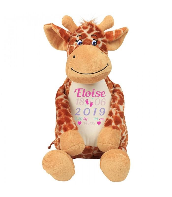 Girafe peluche broderie