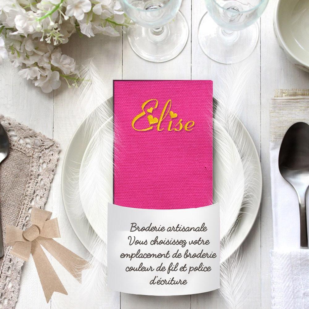 Serviette de table rose fushia