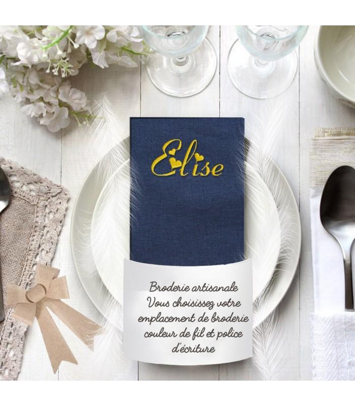 Serviette de table bleue marine