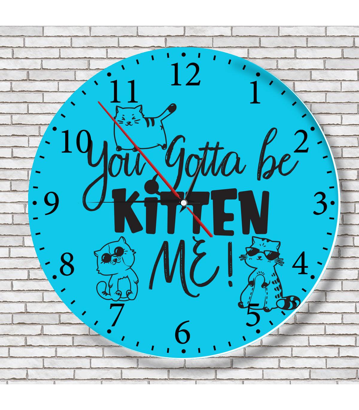 horloge de cuisine motif chat