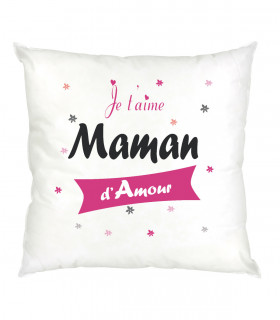 Coussin maman je t'aime