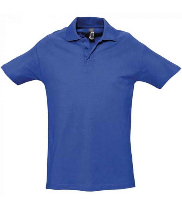 Polo homme brodé bleu royal