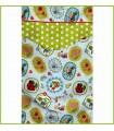 couverture de lit multicolore