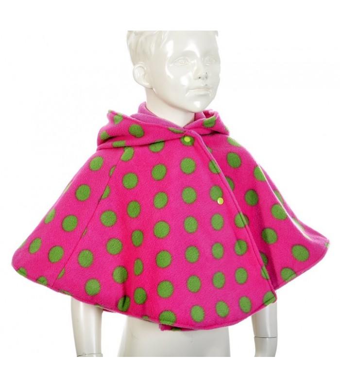 vêtement pour bébé, création originale de poncho rose