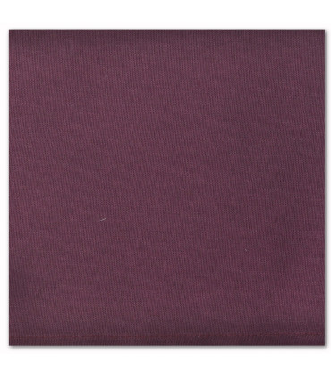 serviette de table brodée aubergine