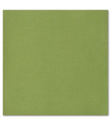 serviette de table brodée vert gazon