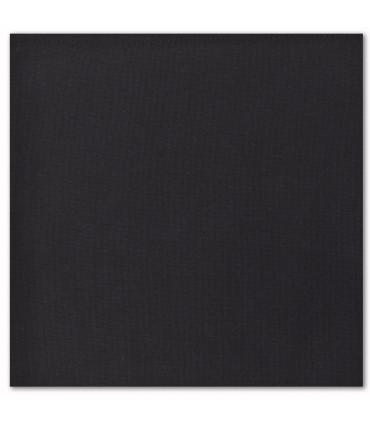 serviette de table brodée noire caviar