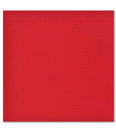 serviette de table brodée rouge cerise