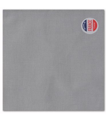 serviette de table brodée gris clair
