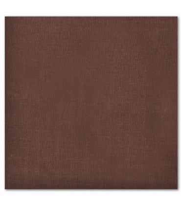 serviette de table brodée marron