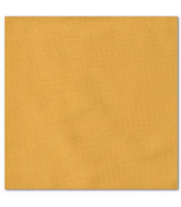 serviette de table brodée jaune