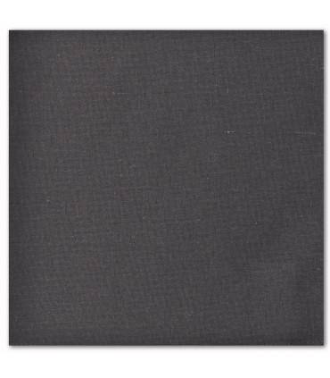 serviette de table brodée gris anthracite