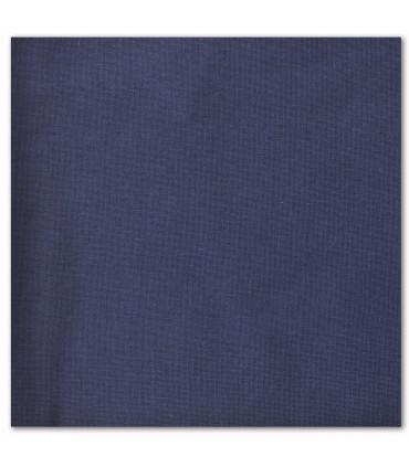 serviette de table brodée bleu marine