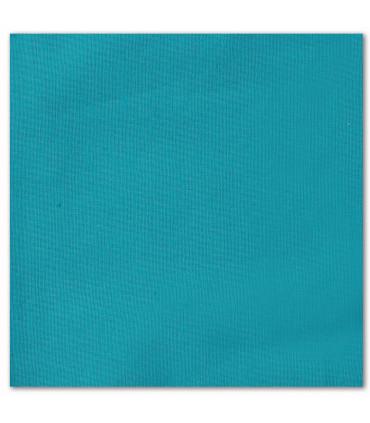 serviette de table brodée bleu petrole