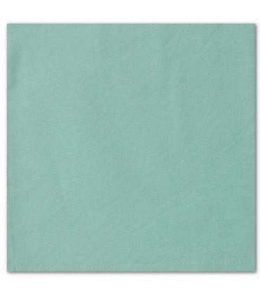 serviette de table brodée vert clair