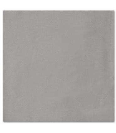 serviette de table brodée gris classique