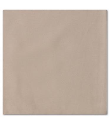 serviette de table brodée taupe