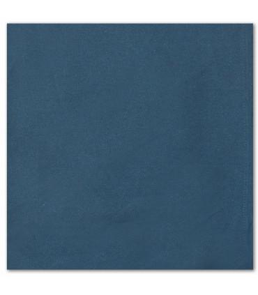 serviette de table brodée bleu navy