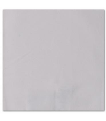 serviette de table brodée gris galet