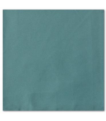 serviette de table brodée bleu vert