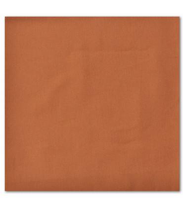 serviette de table brodée terra cota