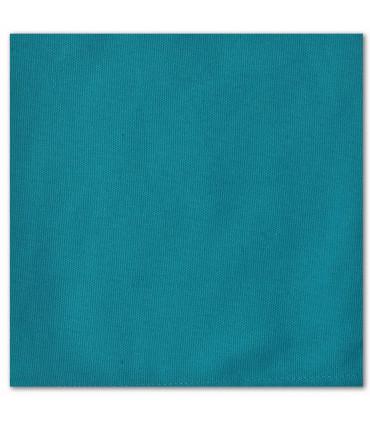 serviette de table brodée bleu tropique