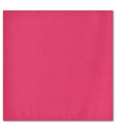 serviette de table brodée fushia