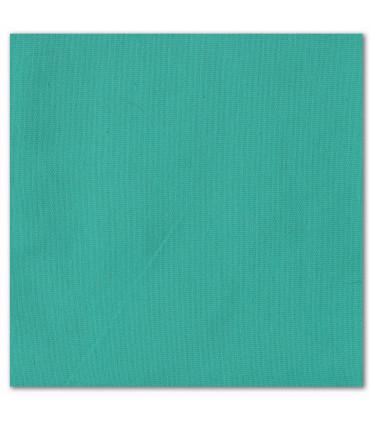 serviette de table brodée vert turquoise