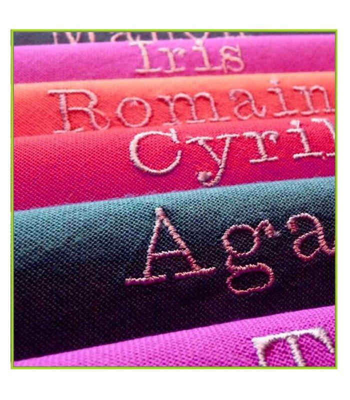 serviette de table brodée avec prénom
