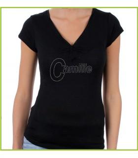 Tee shirt personnalisé en strass avec un prénom