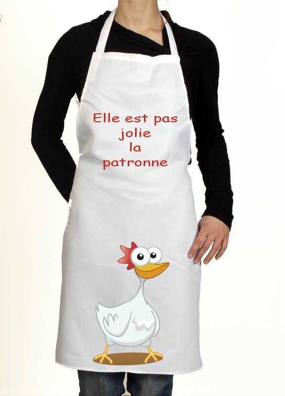 Tablier de cuisine rigolo cadeau humoristique pour homme et femme patronne for Patron tablier original femme asnieres sur seine