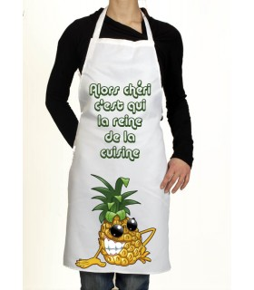 tablier de cuisine motif ananas