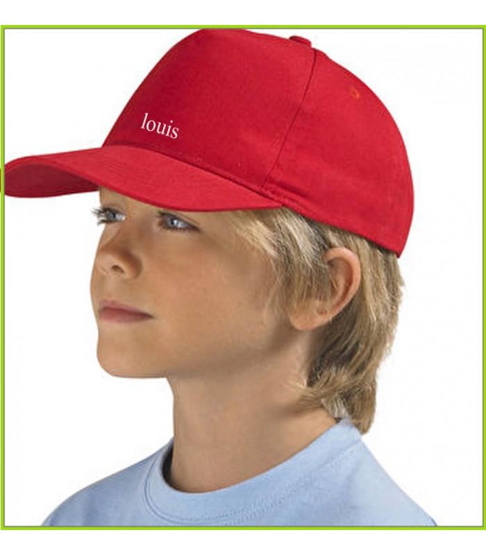 casquette enfant personnalisée et brodée