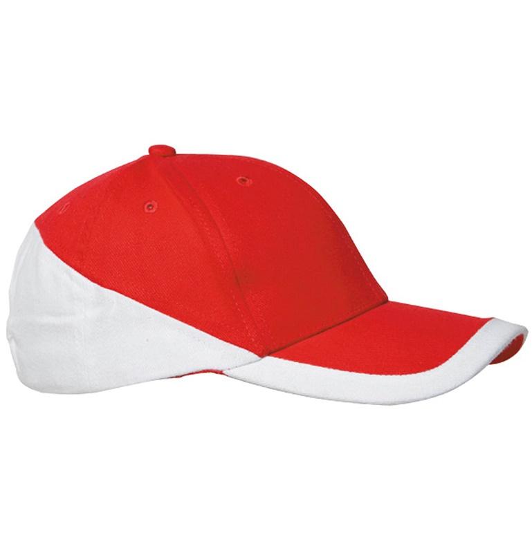 Casquette brodée rouge et blanche