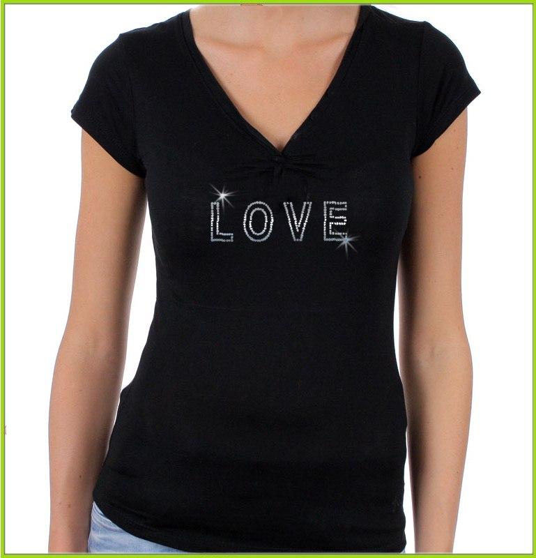Tee shirt personnalis en strass tee shirt original avec motif en strass - Tee shirt avec photo personnalise ...